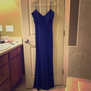 Blue fitted formal dress